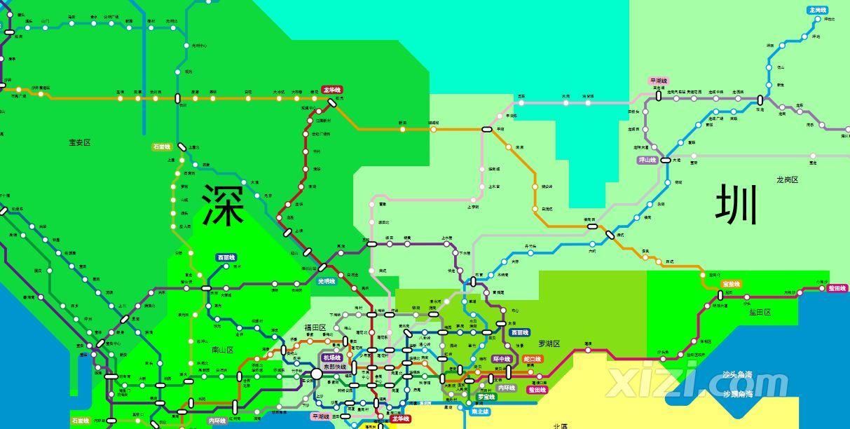 珠江三角洲城市轨道未来规划图,希望惠州加大建设力度和投入
