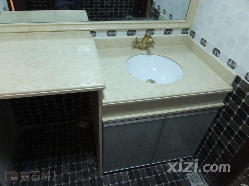 大理石洗手台,n年之后不变形,不变色,依然坚硬如新 多图 装修