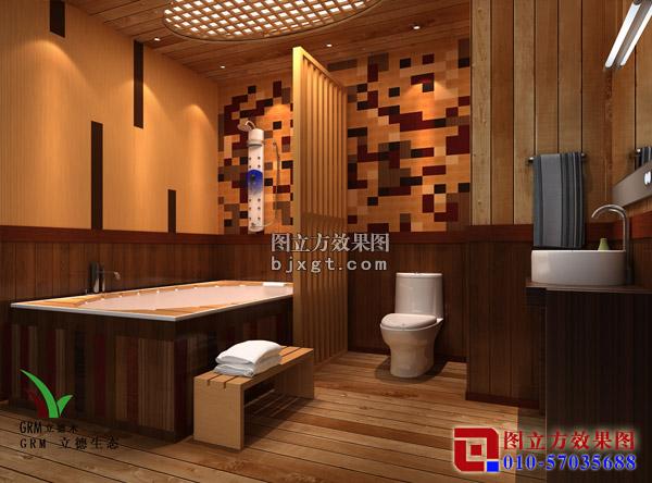 一套小木屋别墅的内外效果图 装修大本营 惠州 西子论坛